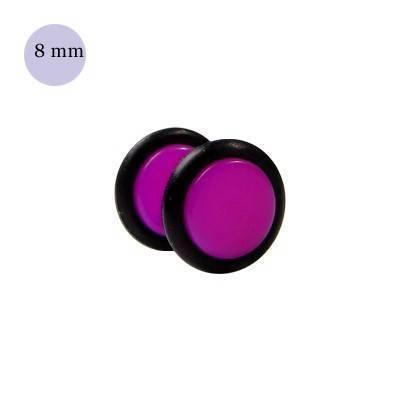 faux écarteur d'oreille acrylique, 8mm. GX65-55