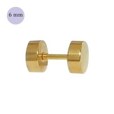 Dilatacion falsa dorada de acero, 6mm de diámetro