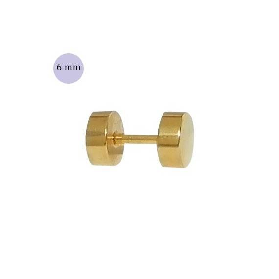 Dilatacion falsa dorada de acero 6mm de di metro for Dilatacion 2mm