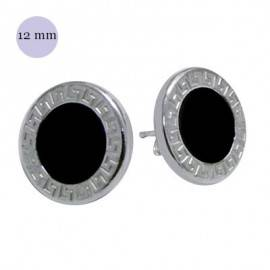 Un pendiente de plata, 12mm de diámetro. OR85-2