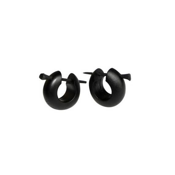 Aro de madera, color negro. Precio por un aro