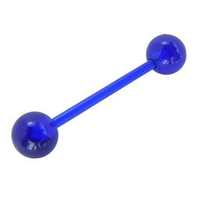 Piercing lengua palo flexible, color azul oscuro. GLE22-46