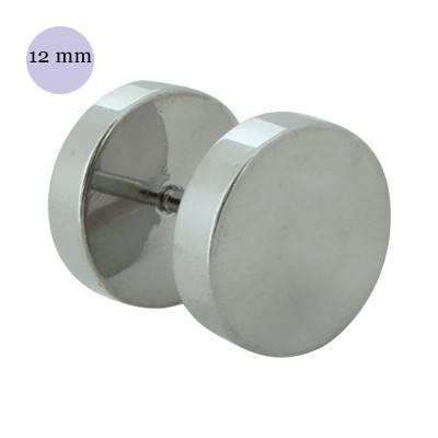 Dilatación falsa color acero, 12mm de diámetro, acero quirúrgico 316L