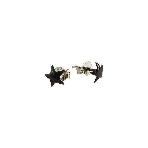 Un pendiente en forma de estrella de plata 6mm, OR75-3