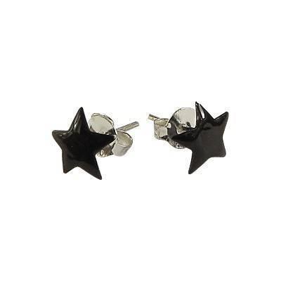 Un pendiente en forma de estrella de plata 7mm, OR76-1