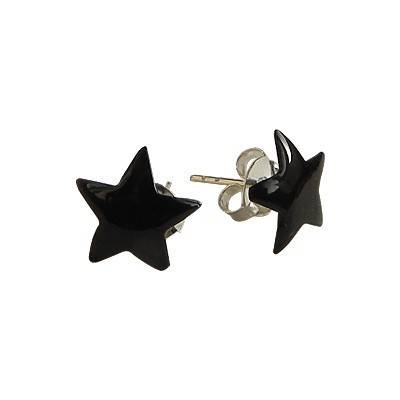 Un pendiente en forma de estrella de plata 9mm, OR76-2