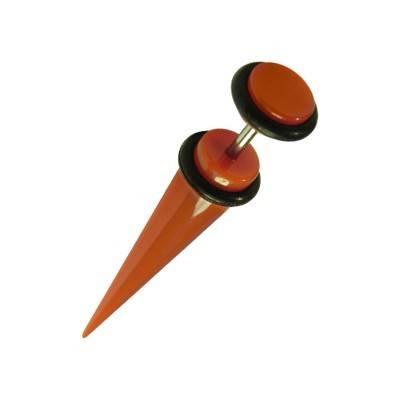 Una dilatación falsa tipo cuerno de plástico, color rojo. GX81-7