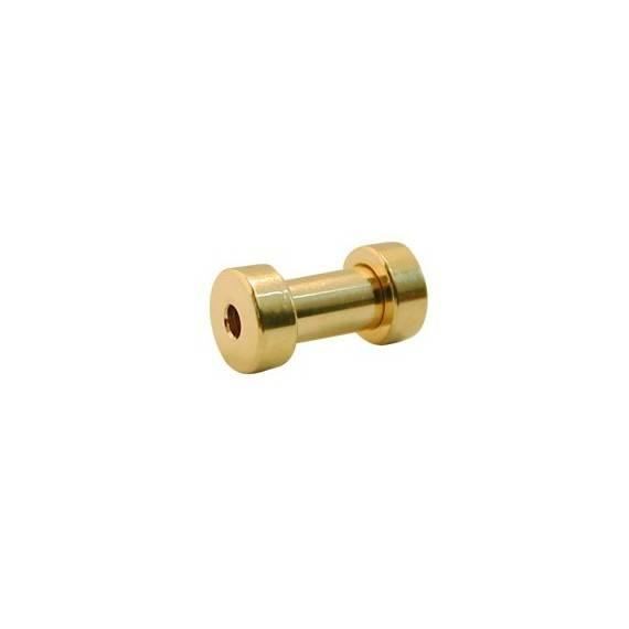 Dilatación 3mm dorada de acero quirúrgico con rosca