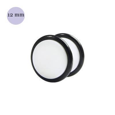 Dilatacion falsa blanca de plástico, 12mm diámetro de los discos. Precio por una dilatacion falsa