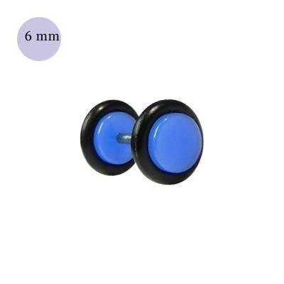 Dilatacion falsa azul claro de plastico, diámetro 6mm. Precio por una dilatacion falsa