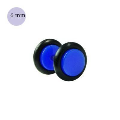 Dilatacion falsa azul oscuro de plastico, diámetro 6mm. Precio por una dilatacion falsa