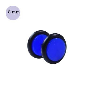Dilatacion falsa azul oscuro de plastico, diámetro 8mm. Precio por una dilatacion falsa