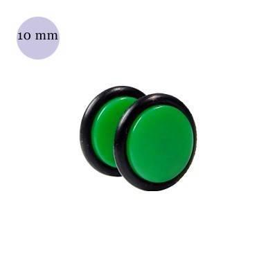 Dilatacion falsa verde de plastico, diámetro 10mm. Precio por una dilatacion falsa