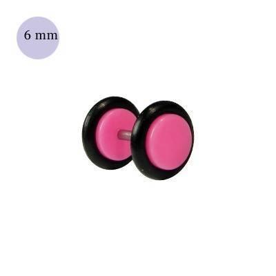 Dilatacion falsa rosa claro de plastico, diámetro 6mm. Precio por una dilatacion falsa