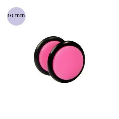 Dilatacion falsa rosa claro de plastico, diámetro 10mm. Precio por una dilatacion falsa