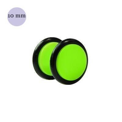 Dilatacion falsa verde claro de plastico, diámetro 10mm. Precio por una dilatacion falsa