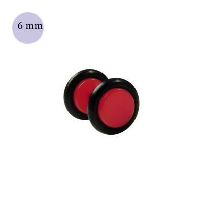 Dilatacion falsa roja de plastico, diámetro 6mm. Precio por una dilatacion falsa