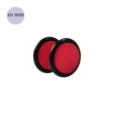 Dilatacion falsa roja de plastico, diámetro 10mm. Precio por una dilatacion falsa