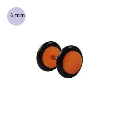 Dilatacion falsa naranja de plastico, diámetro 6mm. Precio por una dilatacion falsa