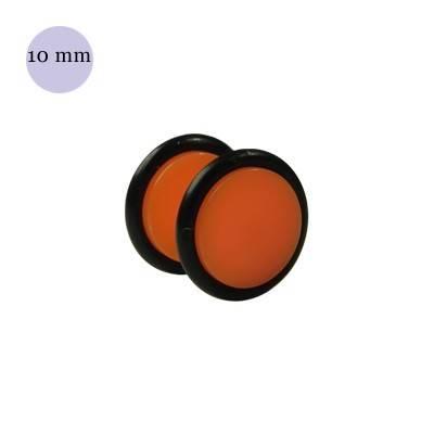 Dilatacion falsa naranja de plastico, diámetro 10mm. Precio por una dilatacion falsa