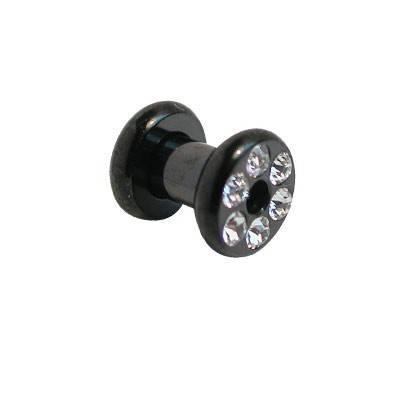 tunnel en acier chirurgical anodisé noir, 4mm. GX24-2