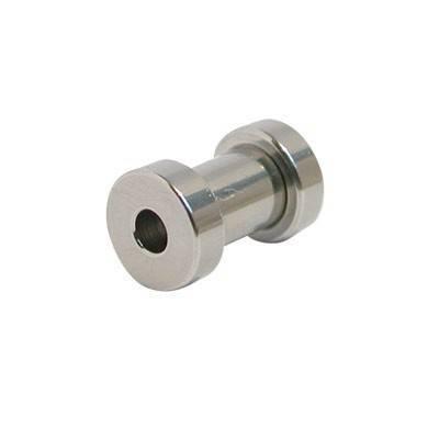 Dilatación 4mm, color acero, de acero quirúrgico con rosca