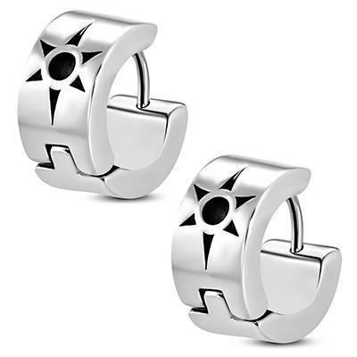 boucle d'oreille homme, anneau acier chirurgical. Vendue à l'unité