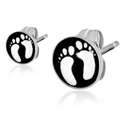 women surgical steel stud earrings, 7mm. Unit price. BB380-118