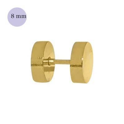 Dilatacion falsa dorada de acero, 8mm de diámetro