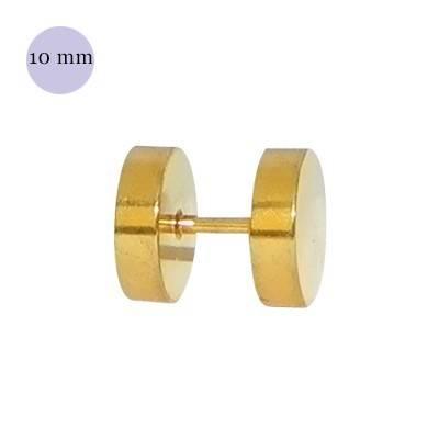 Dilatacion falsa dorada de acero, 10mm de diámetro