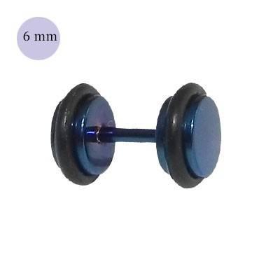 Dilatación falsa azul, 6mm de diámetro, con dos anillas de goma