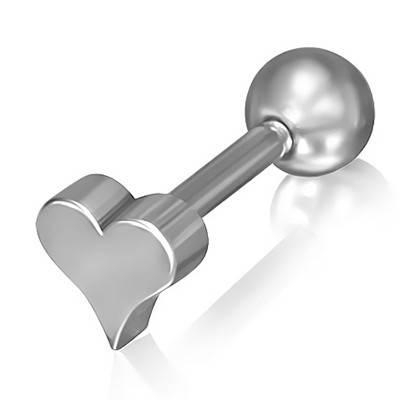 Piercing oreja, tragus, helix, corazon. GHX5-10