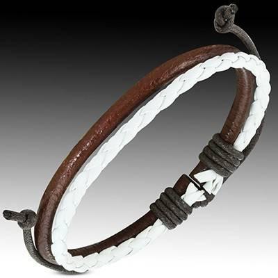 Bracelet en cuir reglable. BBR02