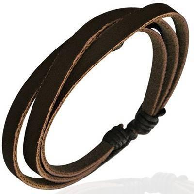 Bracelet en cuir reglable. BBR11