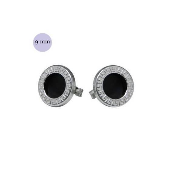 079d19151146 Pendiente redondo con circulo negro