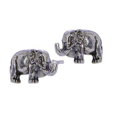Pendiente de plata con tuerca, elefante 9mm de largo. Precio por un pendiente