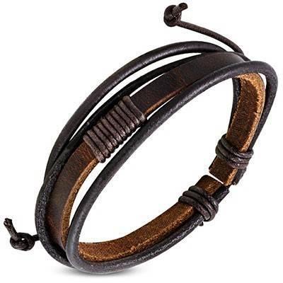 Bracelet en cuir reglable. BBR33