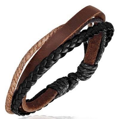 Bracelet en cuir reglable. BBR36