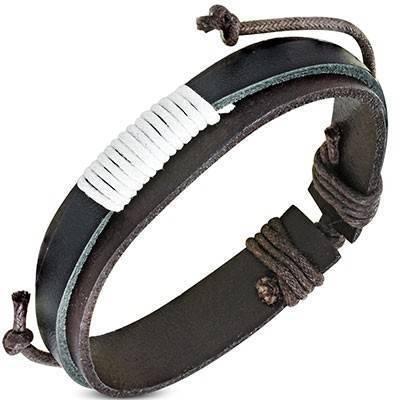 Bracelet en cuir reglable. BBR39