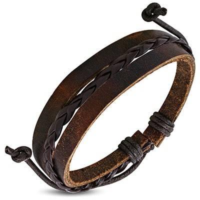 Bracelet en cuir reglable. BBR48