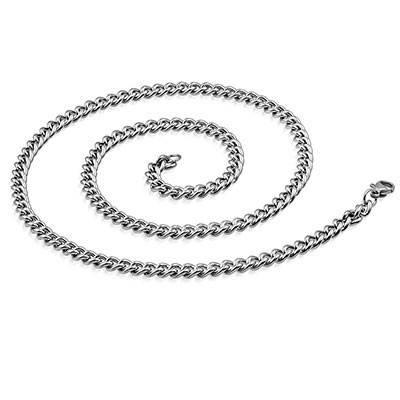 Chaine en acier chirurgical, 50cm long, 4,5mm largeur. CADC6