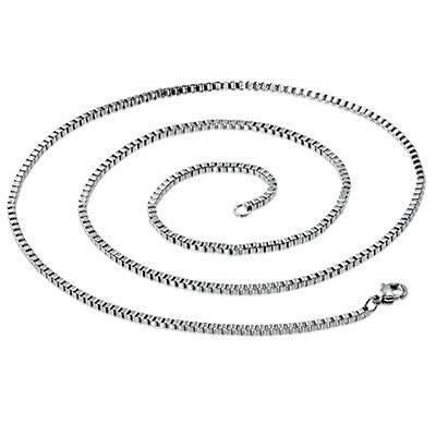Chaine en acier chirurgical, 50cm long, 3mm largeur. CADC12