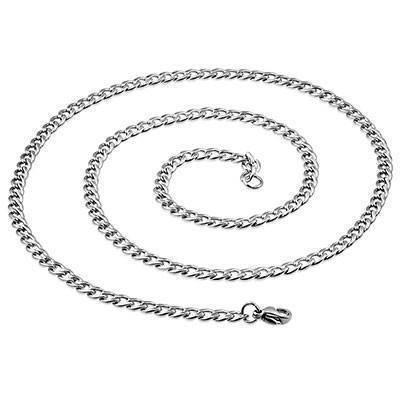 Chaine en acier chirurgical, 55cm long, 4,5mm largeur. CADC15