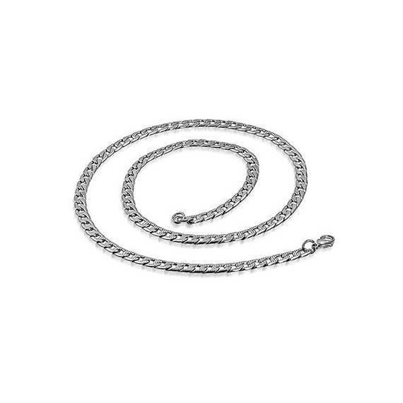 Chaine en acier chirurgical, 50cm long, 4,5mm largeur. CADC16