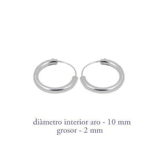 7a0fe748d3a65 Men's sterling silver hoop earrings thickness 2 mm diameter 10 mm.