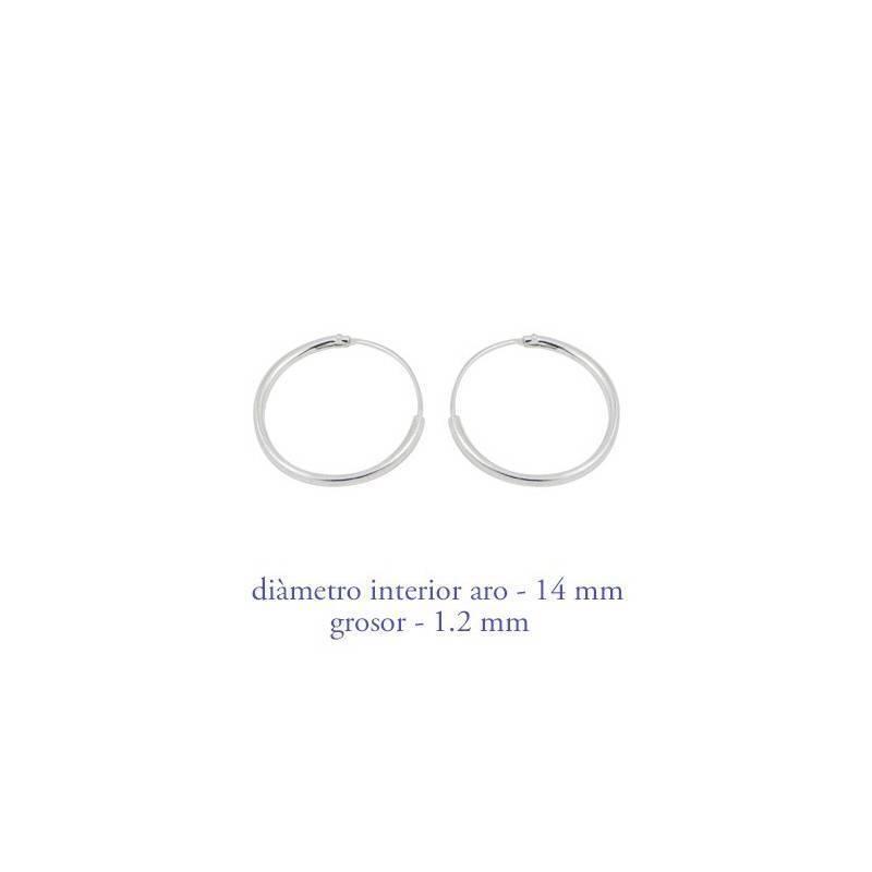 Un aro de plata para chica precio por unidad grosor 1 for Dilatacion 2mm
