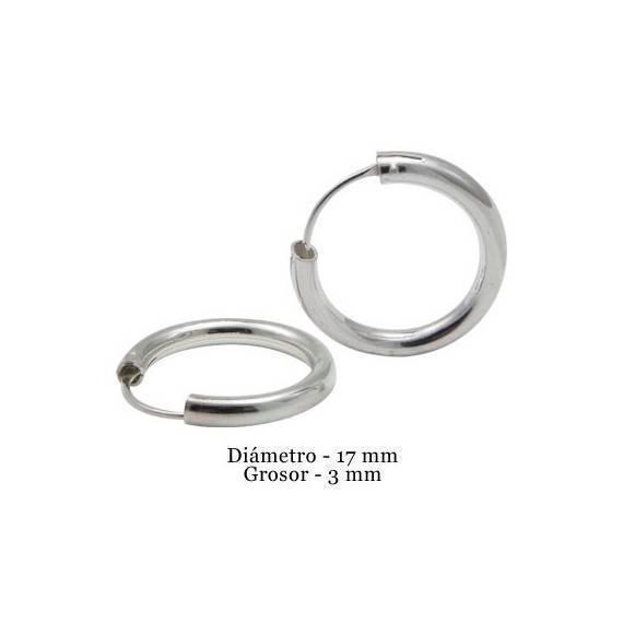 Aro de plata para hombre, grosor 3mm, diámetro interior 17mm. Precio por un aro