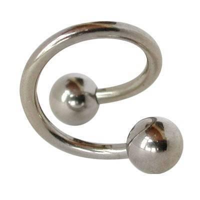 Piercing ombligo en forma de espiral de acero quirúrgico. GES9-1