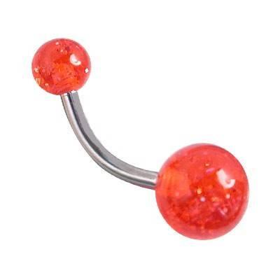 piercing ombligo de plastico, GO60-23