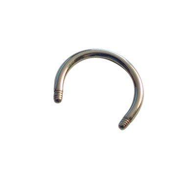 Piercing aro sin bolas, 8mm de diámetro, 1,2mm de grosor.